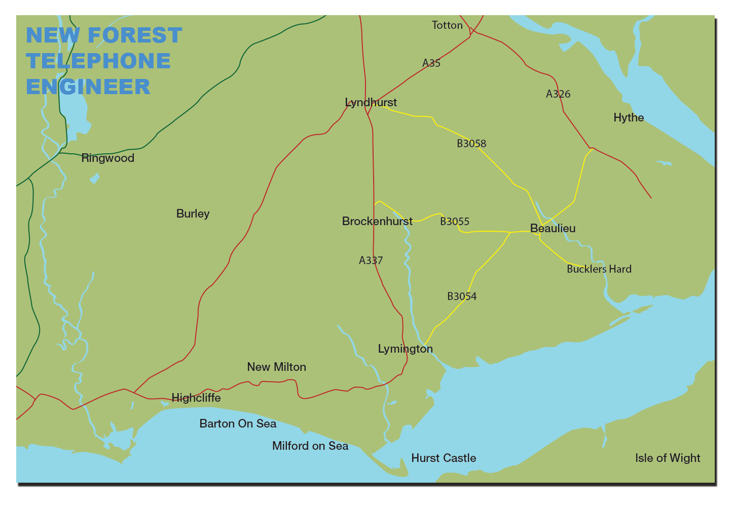 New Forest Telephone Engineer Service Area